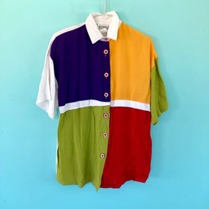 Vintage Colorblock Blouse